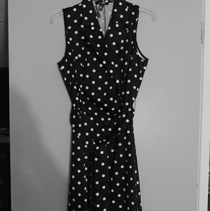 Chaps polka dot dress NWOT